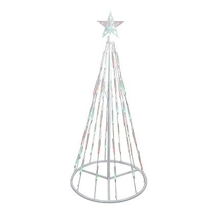 Amazoncom 4 White Single Tier Bubble Show Cone Christmas Tree
