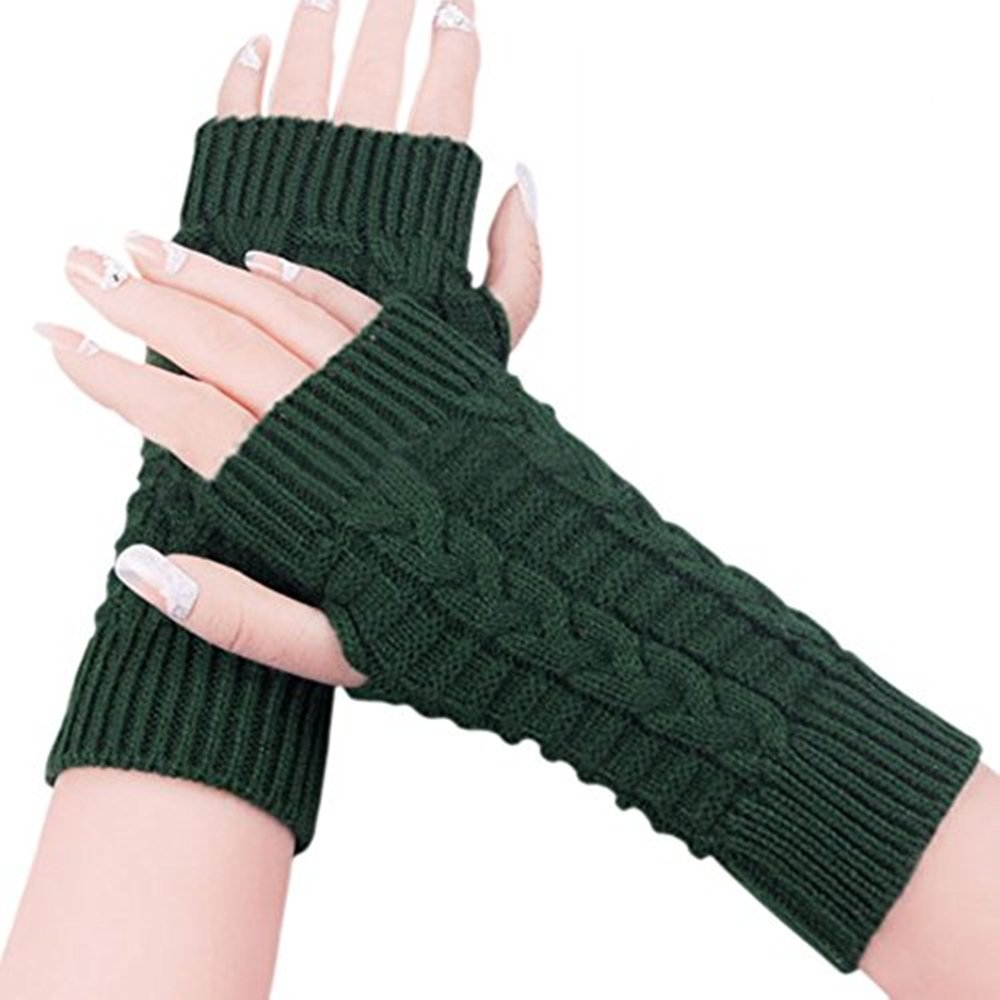 SBParts 2016 Winter Stylish Women Knit Winter Armwarmer Fingerless Knitted Warmers Mittens Gloves Mitten Essential Fingerless Gloves