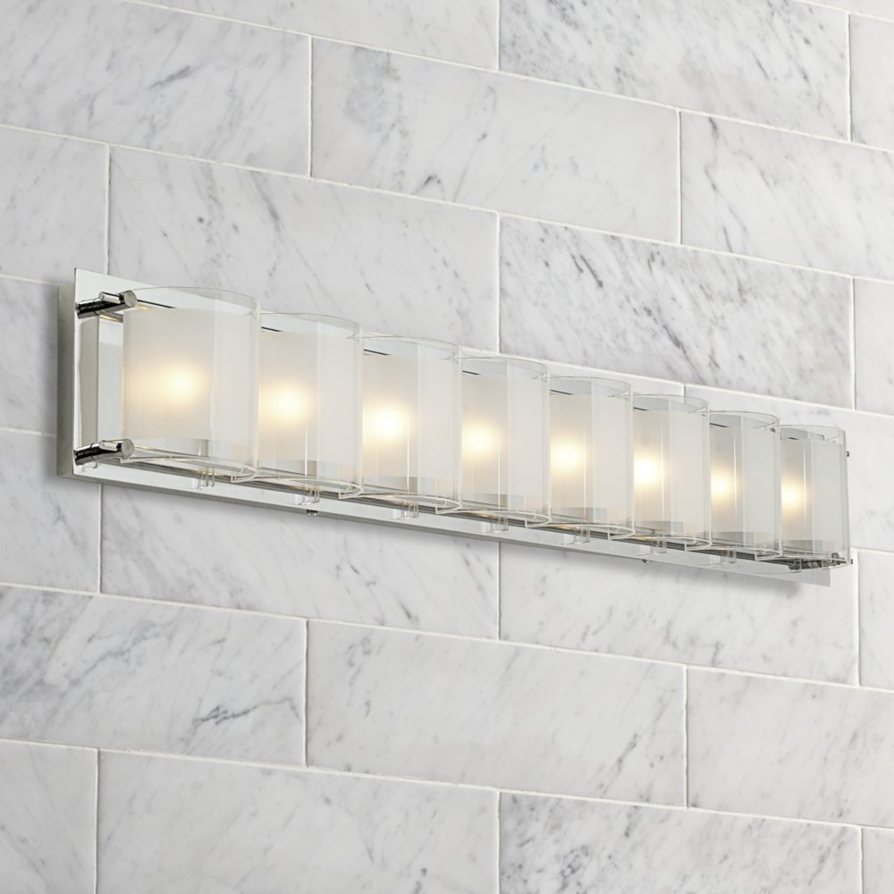 Possini euro design glass bands 30 12 wide bath light vanity possini euro design glass bands 30 12 wide bath light vanity lighting fixtures amazon arubaitofo Image collections