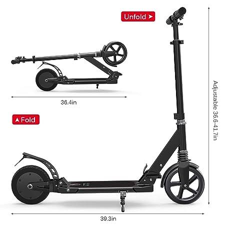 MKJHBDF Adultos al Aire Libre Plegable Scooter eléctrico ...