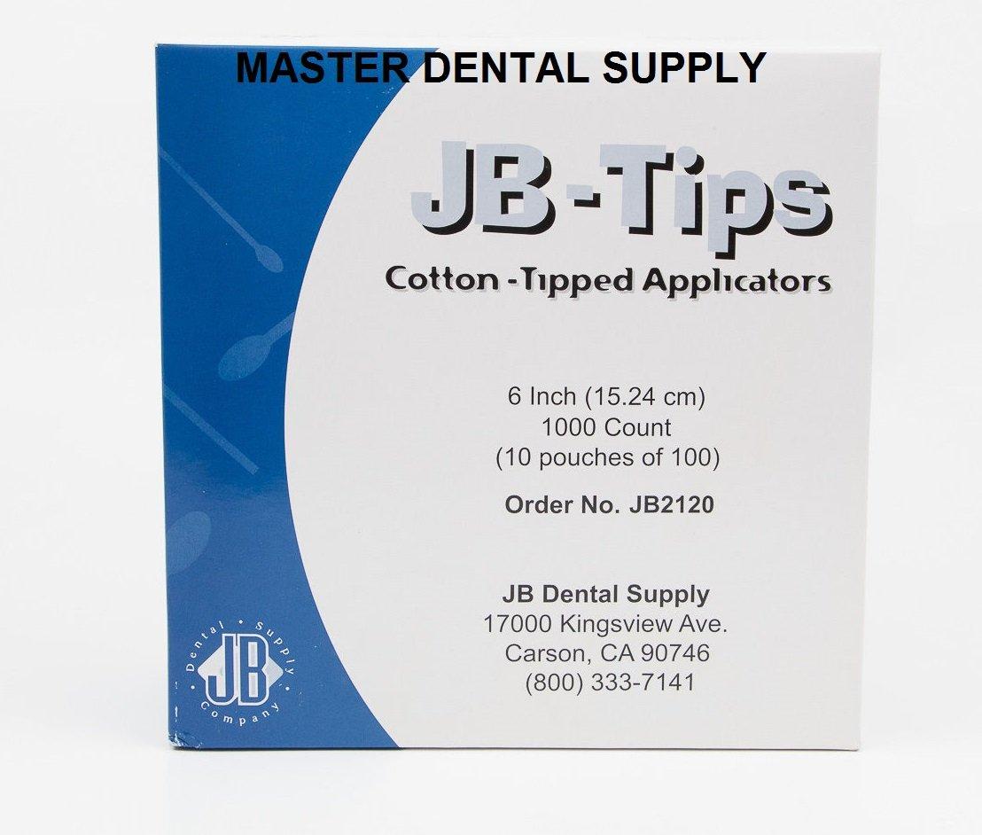 1 CASE Dental Medical Cotton Tips Applicators 10000 Pcs/bag (10 x 1000 pcs/box) Autoclavable Pouches NON STERILE 6'' Wood AUTOCLAVABLE