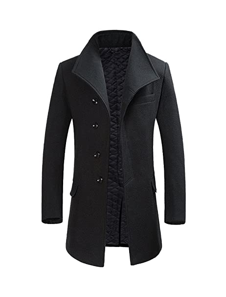 new concept c7557 ace9f Voser Winter Woolen Long Trench Coat Business Outfit Down ...