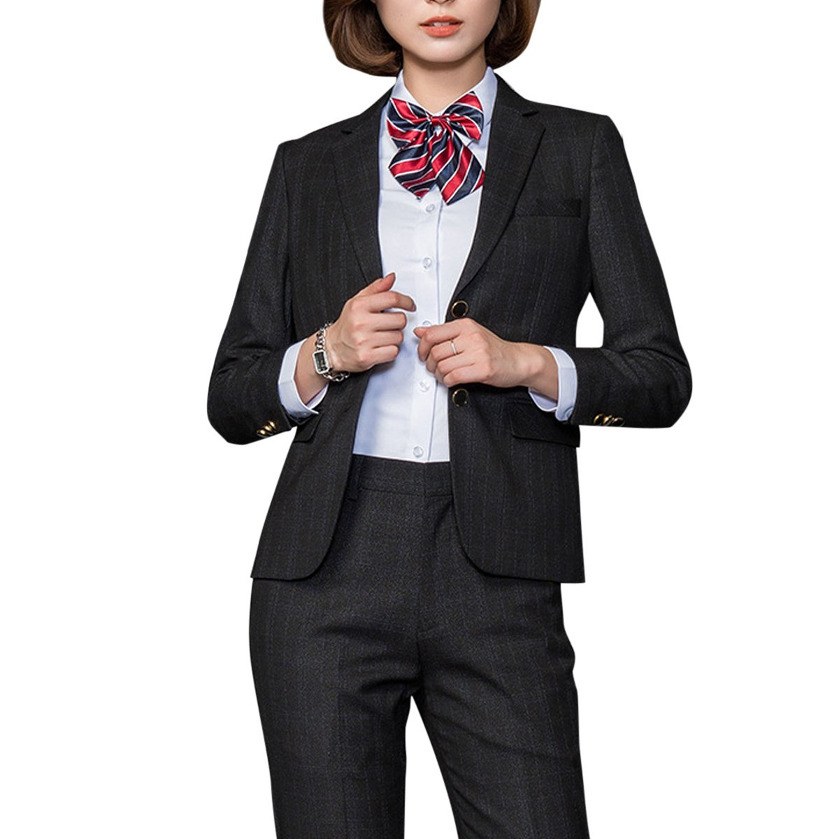 YUNCLOS Women's Two Piece Formal Office Business Suit Set OL Blazer Pant by YUNCLOS