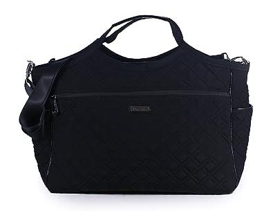 Vera Bradley Women's Carryall Travel Bag Classic Black Handbag ...