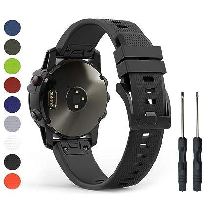 Humenn 22mm Band Compatible with Garmin Fenix 5, Soft Silicone Sport Watch  Strap Replacement for Fenix 5 Plus, Garmin Instinct, Forerunner 935,
