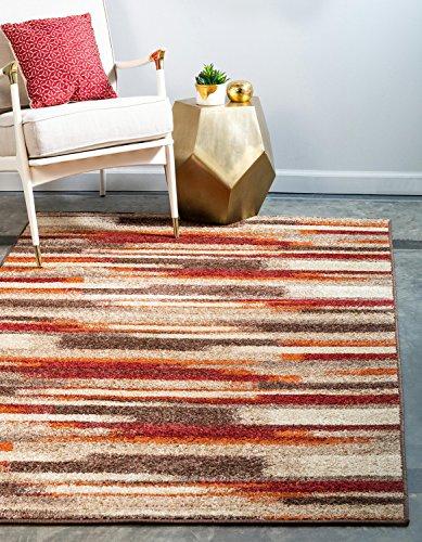 Unique Loom Autumn Collection Casual Gradient Warm Toned Multi Area Rug (9' x 12')