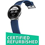 (CERTIFIED REFURBISHED) Huawei MES-B19 Fit Large Activity Tracker (Moonlight Silver Case, Blue Sport Band)