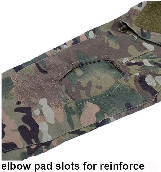 MILASIA Chemise de Combat Militaire et Cravates /à s/échage Rapide Tactique Tactique /à s/échage Rapide Pantalon de Costume pour Hommes Pantalon de Combat Pantalon de Paintball Militaire