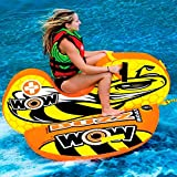 WoW Sports 14-1040 Buzz Boat, Cockpit Seating, High Backrest Towable Ski Tube, 1