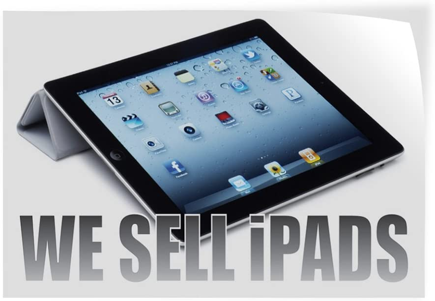 Set of 5 Decal Sticker Multiple Sizes We Sell iPad Retail Gadgets Outdoor Store Sign White 27inx18in