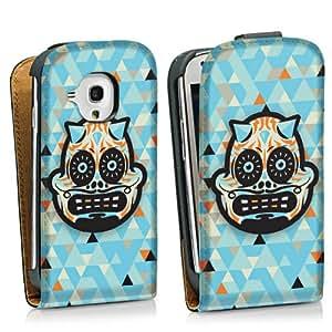 Diseño para Samsung Galaxy S3 Mini I8190 DesignTasche Downflip black - Skull Demon