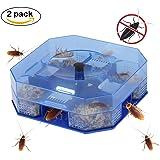 Accmor 2 Pack Roach Cockroach Trap Killer Box, Reusable, Non-Toxic and Eco-Friendly