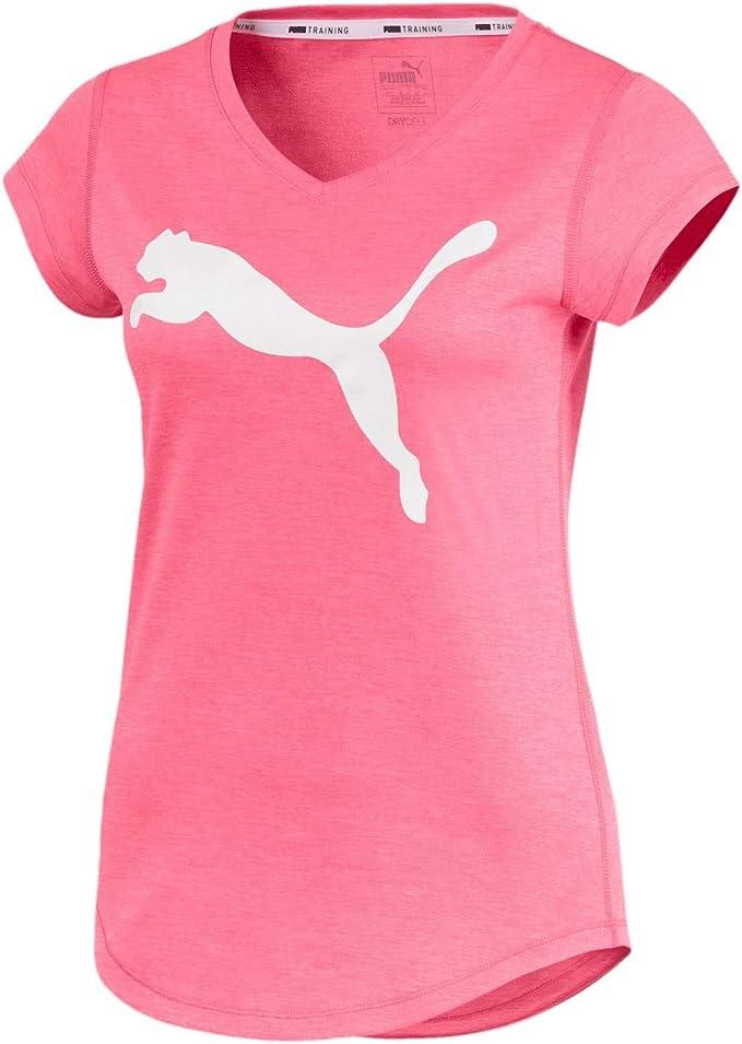 PUMA Damen Heather Cat Tee T Shirt: : Bekleidung