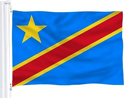 Dflive Bandera Del País áfrica República Del Congo Jardín Y Exteriores