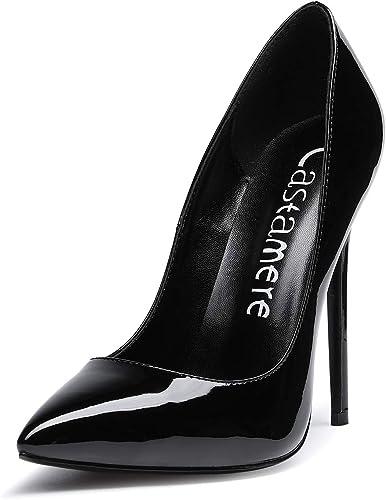 CASTAMERE Women's High Heel Pumps Slip