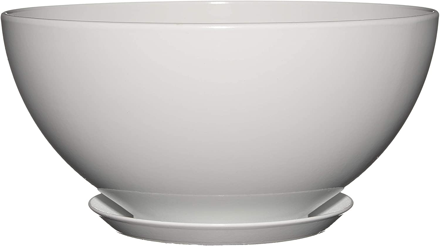 "Classic Home and Garden 9010D-405S 10"" Rosie Bowl Planter, Stark White"