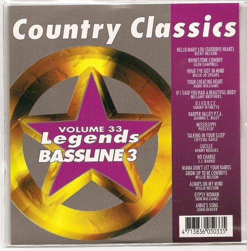 LEGENDS Bassline Vol.33 Karaoke CDG COUNTRY CLASSICS ()