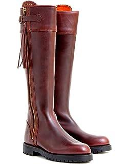 11eef78c1d9 Penelope Chilvers Ladies  Long Leather Tassel Boots   Conker