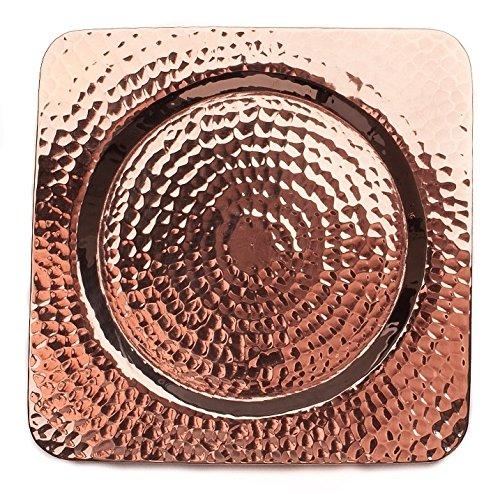 (Sertodo Copper, Square Napa Bottle Coaster, Hand Hammered 100% Pure Copper, 5.5 Inch square, Single)