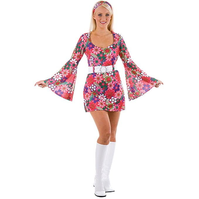 Hippie Costumes, Hippie Outfits Retro Go Go Girl flower £18.99 AT vintagedancer.com
