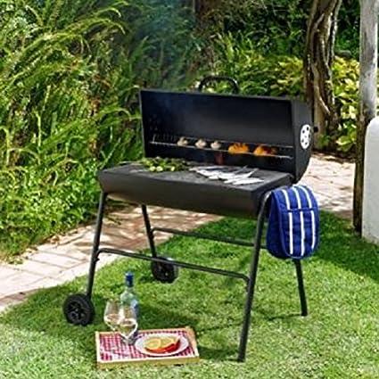 Aceite barbacoa de carbón de tambor con tapa/barbacoa Grill ...
