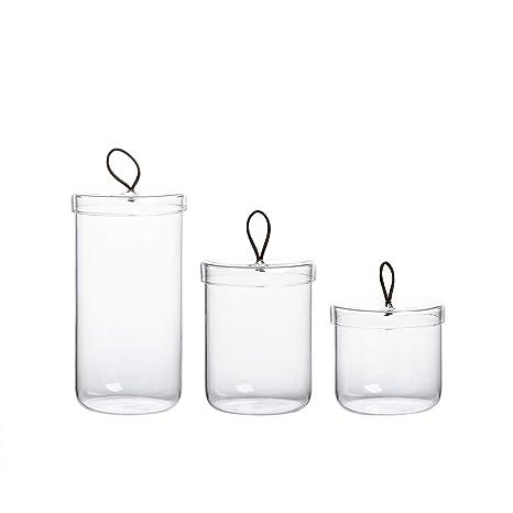 Amazon Com Glass Apothecary Jars Cotton Jar Bathroom Storage