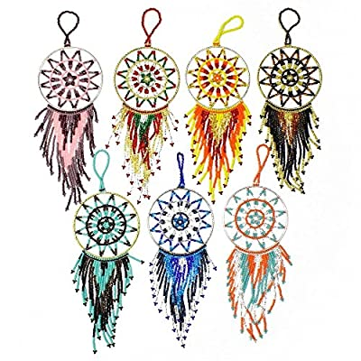 Tree Ornament 4 inch Dream Catcher Glass Crystal Beaded Christmas Fair Trade Mix by Unbranded