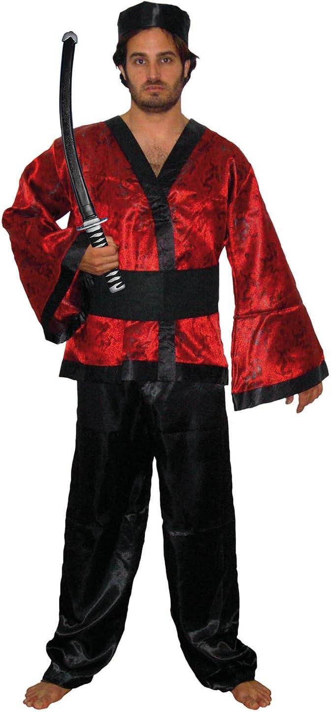 El Carnaval Disfraz Samurai Adulto: Amazon.es: Juguetes y juegos