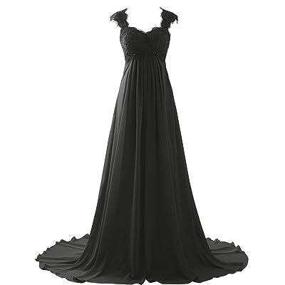 Erosebridal New Sleeveless Lace Chiffon Wedding Dress Bridal Gown at Women's Clothing store