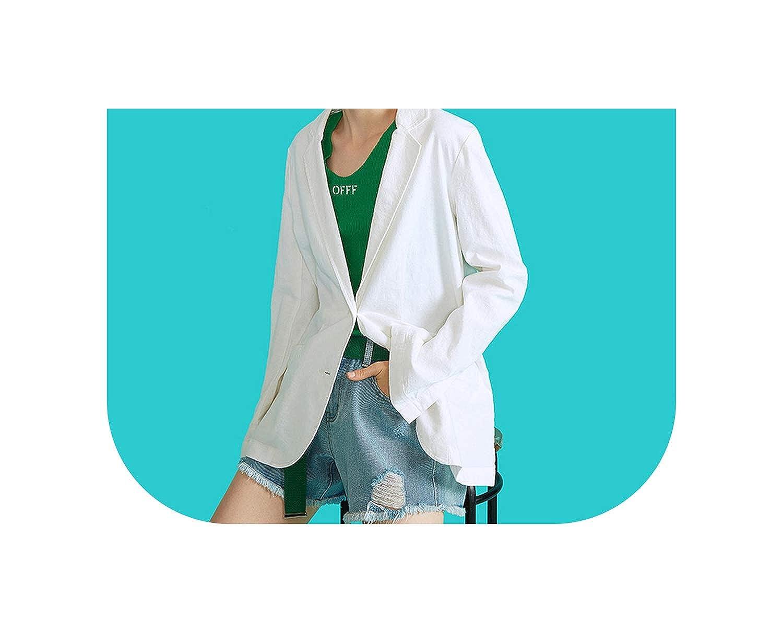 Amazon.com: Chic coreano blanco Blazer Feminino Oficina ...