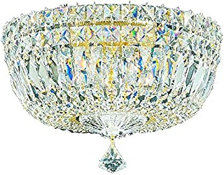 product image for Schonbek 5892-40M Swarovski Lighting Petit Crystal Deluxe Flush Mount Lighting Fixture, Silver