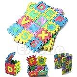 Misciu 36Pcs Mini Size Puzzle Numeral Alphabet A-Z Letters Foam Mat Kid Educational Toy