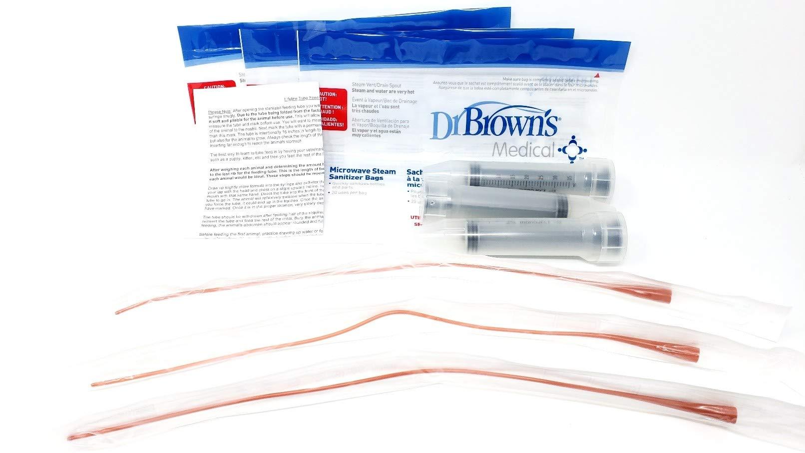 Lifeline 8Fr Red Tube Feeding Kit - 3 Part by Lifeline Pet Supplies