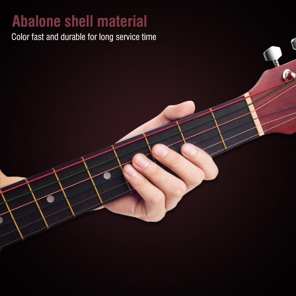 6/mm Touche marqueurs incrustations Ormeau Autocollant point de Mark pour guitare et basse 12//20 Lot de 12