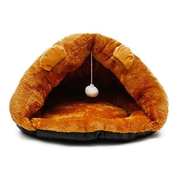 V. Just Pet Soft Warm Nest Zwinger Bed Cave hogar Saco de Dormir Pad Tienda Gato térmica (Cachorros Cama Perro: Amazon.es: Hogar