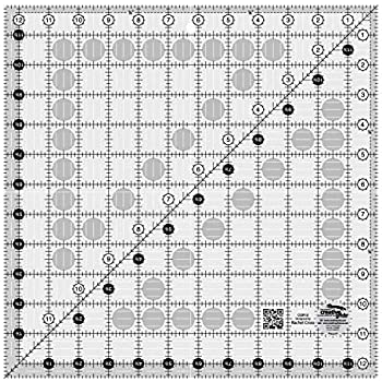 Creative Grids 4.5 x 12.5 Rectangle Quilting Ruler Template CGR412