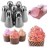 Dr.Pedi Russian Piping Tips Icing Piping Nozzles Set Cake Decorating Supplies Tips Cupcake Decorating Kit Cupcake Pastry Tool