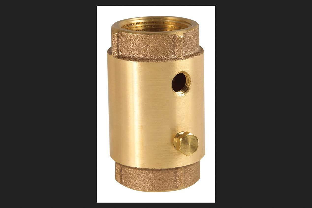 """1-1//4/"""" FNPT Low Lead Brass Spring Check Valve w//Taps CAMPBELL CVB-5TLF"""