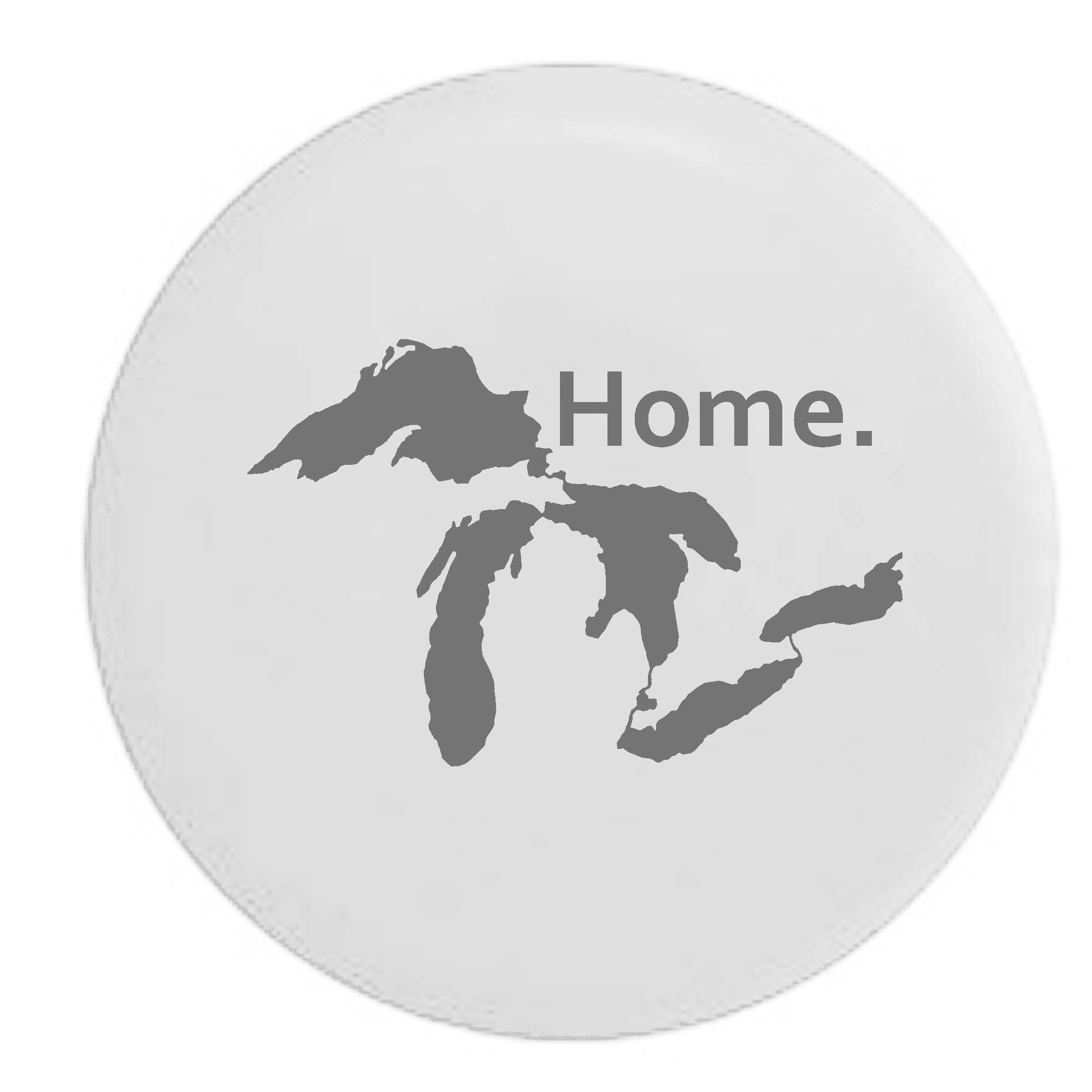 Pike State of Michigan Great Lakes Detroit Home Edition Trailer RV Spare Tire Cover OEM Vinyl White 30 in by Pike Outdoors