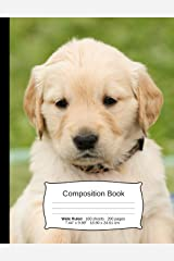 Golden Retriever Composition Notebook: A Wide Ruled Exercise Book for Writing and Journaling (Dog Notebooks) Paperback