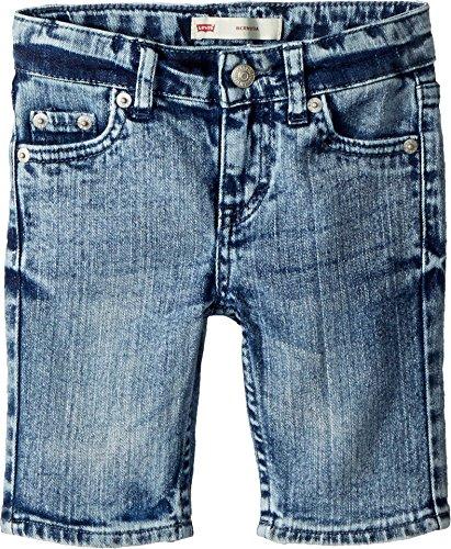 Levi's Girls' Little Denim Bermuda Shorts, Riviera, 4