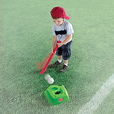 Step2 2-in-1 T-Ball and Golf Set Toy - Outdoor Play Golf Baseball Set for Kids - Durable Plastic Toys - Red/Green/Yellow: Toys & Games