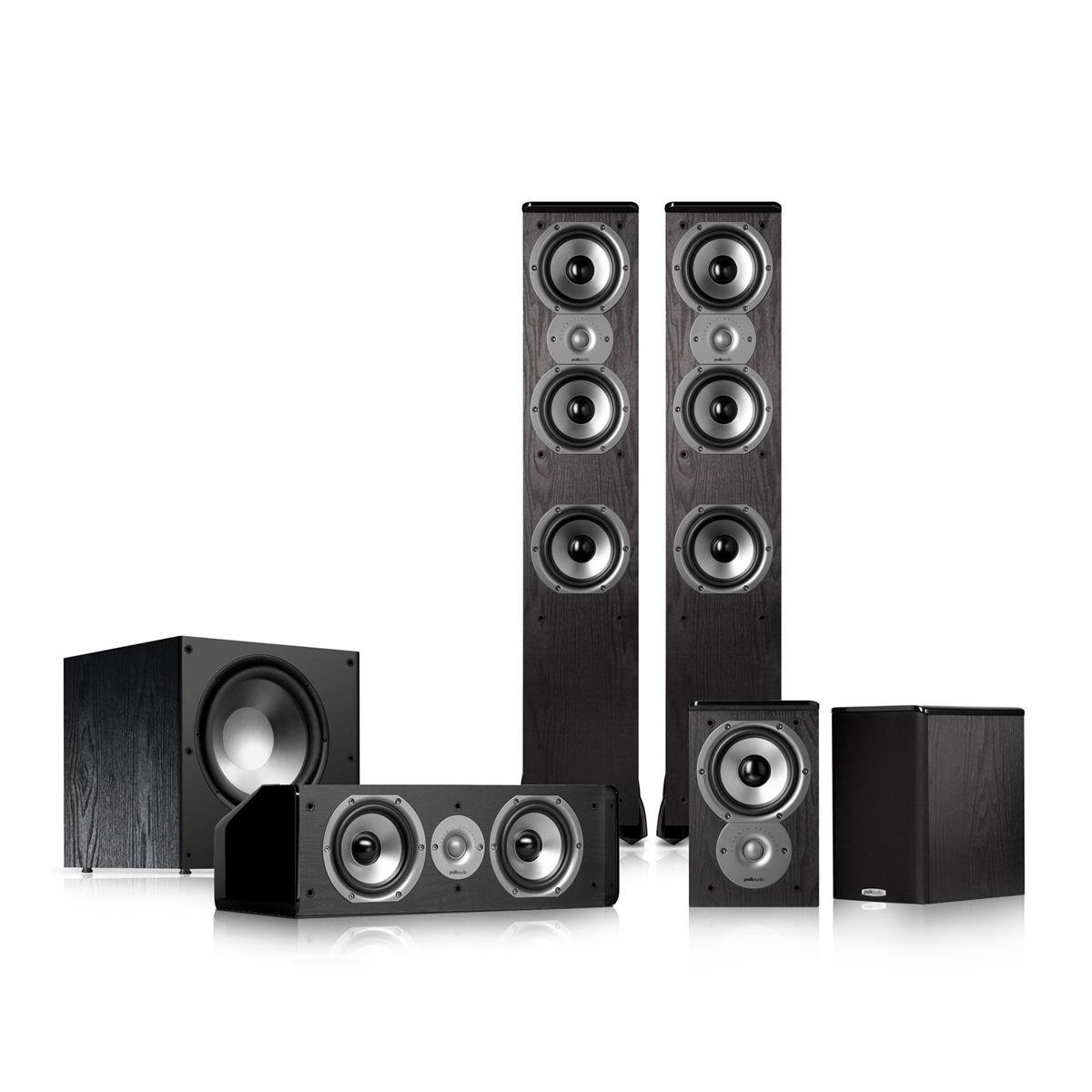 Polk Audio TSi400 5.1 Home Theater Speaker Package (Black) by Polk Audio