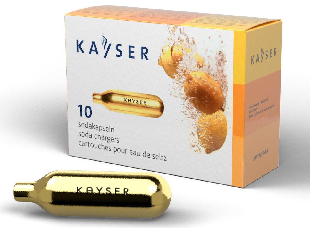 Kayser Soda CO2 Seltzer- 2 Boxes of 10 by Kayser