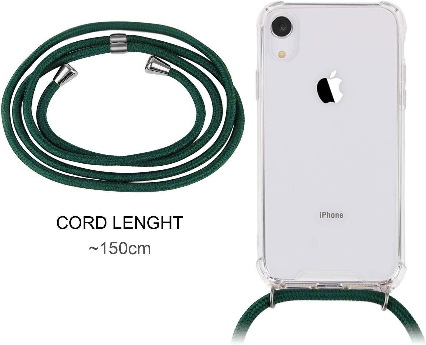 Smartphone Necklace H/ülle mit Band Transparent Schutzh/ülle Stossfest XTCASE Handykette kompatibel mit iPhone 11 Pro Handyh/ülle Schnur mit Case zum Umh/ängen in Schwarz