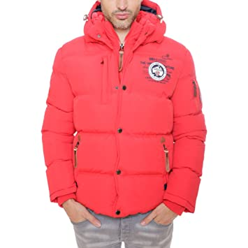 f64b8cdc0de8 Geographical Norway VERON MEN JKT Rot Herren Parka Jacke Dry Tech 4000 Neu