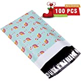 """UCGOU #1 6X9"""" Flamingo Designer Poly Mailers 2.35MIL Shipping Envelopes Boutique Custom Bags Pack of 100"""