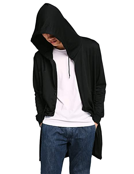 Amazon.com: jinidu de los hombres elegante largo Drape Cape ...