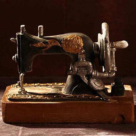 Decorativos Adornos Creativos Regalo Clásico Retro Máquina De Coser Modelo Adornos Muebles De Resina Antigua Máquina De Coser Miniatura Craft Bar Café Decoración Del Hogar Regalos, Como Imagen: Amazon.es: Hogar