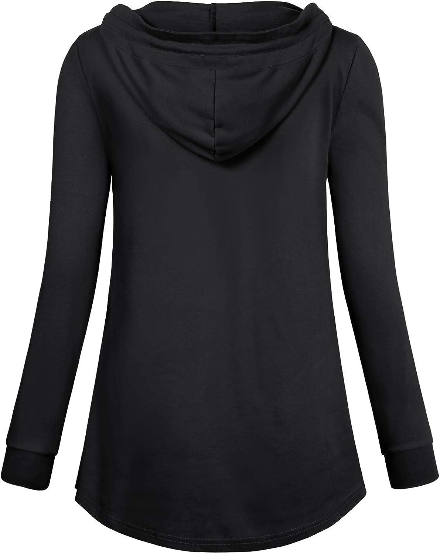 Quinee Women Long Sleeve Nursing Hoodie Tops Breastfeeding Sweatshirts